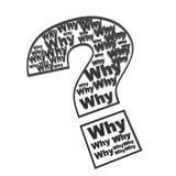 Pergunte porque no ponto de interrogação ilustração royalty free