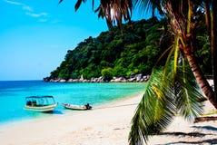 Perhentian海岛海滩看法  库存图片