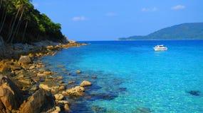 从Perhentian海岛的海视图 免版税库存照片