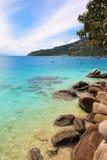 Perhentian海岛, Besar,马来西亚 免版税库存照片