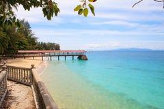 Perhentian ö, Besar, Malaysia arkivbild