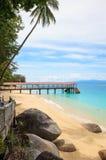 Perhentian ö, Besar, Malaysia fotografering för bildbyråer