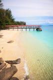 Perhentian ö, Besar, Malaysia arkivfoton