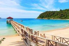 Perhentian ö, Besar, Malaysia royaltyfria foton