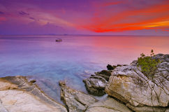 Perhentian ö Malaysia arkivbild