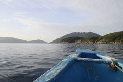 Perhentian island from blue boat Stock Photography