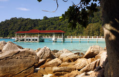 Pier in Perhentian islands - Malaysia Royalty Free Stock Photos