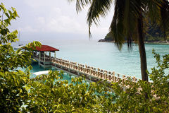Pier in Perhentian islands - Malaysia Royalty Free Stock Images