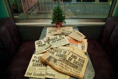 periódico 1940 Fotos de archivo