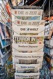 Periódico alemán de la prensa sobre los ataques de Londres Foto de archivo