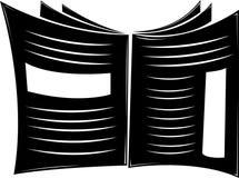 Periódico blanco y negro Fotos de archivo libres de regalías