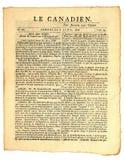 Periódico canadiense temprano. Fotos de archivo