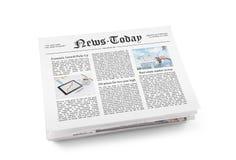 Periódico con noticias frescas Fotografía de archivo libre de regalías