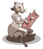Periódico de la lectura del ratón, ejemplo del vector Imagen de archivo libre de regalías