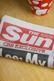 Periódico de The Sun Fotografía de archivo libre de regalías