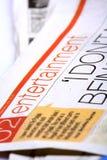 Periódico del entretenimiento Imagen de archivo libre de regalías