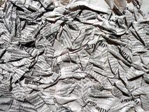 Periódico del pliegue fotos de archivo libres de regalías