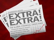 Periódico económico stock de ilustración