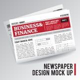 Periódico económico realista ilustración del vector