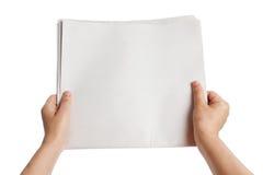 Periódico en blanco Foto de archivo libre de regalías