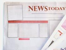 Periódico en blanco Imagen de archivo libre de regalías