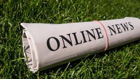 Periódico en línea Imágenes de archivo libres de regalías