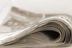 Periódico en sepia Imágenes de archivo libres de regalías