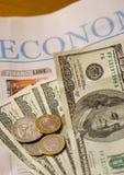 Periódico financiero fotografía de archivo libre de regalías