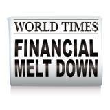 Periódico financiero Foto de archivo libre de regalías