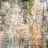 Periódico, fondo del grunge del collage Imagen de archivo libre de regalías