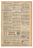 Periódico inglés usado del vintage de la publicidad del texto de la página de papel Imágenes de archivo libres de regalías