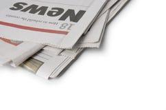 Periódico - las noticias fotografía de archivo libre de regalías