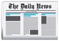 Periódico las noticias diarias Fotografía de archivo
