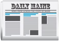 Periódico Maine diario libre illustration