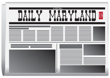 Periódico Maryland diario ilustración del vector