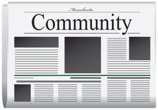 Periódico Massachusetts - comunidad Imagen de archivo libre de regalías