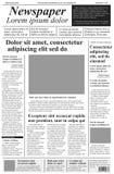 Periódico Plantilla del vector con el texto y las imágenes del lorem ipsum H Foto de archivo libre de regalías