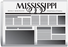 Periódico semanal Mississippi stock de ilustración
