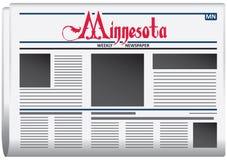 Periódico semanal para Minnesota ilustración del vector
