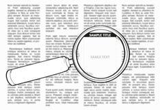 Periódico unsharp del vector ilustración del vector