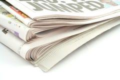 Periódicos Imágenes de archivo libres de regalías