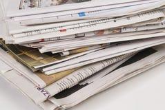 Periódicos Imagen de archivo libre de regalías