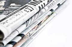 Periódicos aislados Fotografía de archivo libre de regalías