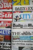 Periódicos británicos foto de archivo libre de regalías