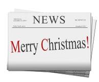 Periódicos de la Feliz Navidad Fotos de archivo libres de regalías