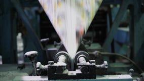 Periódicos de la impresión en tipografía almacen de video
