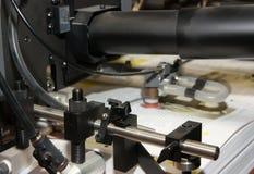 Periódicos en la máquina impresa desplazamiento Foto de archivo libre de regalías
