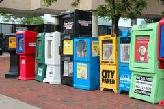 Periódicos libres Foto de archivo