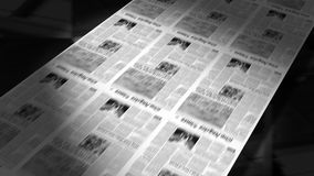 Periódicos que imprimen (lazo de la animación) HD ilustración del vector