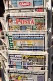Periódicos turcos Fotografía de archivo